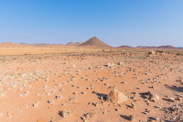 O deserto de namib, no maravilhoso namib naukluft national park, destino de viagem e destaque na namíbia, áfrica. Foto Premium