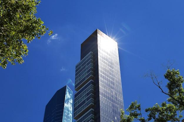 O edifício na madison square em nova york, estados unidos Foto Premium