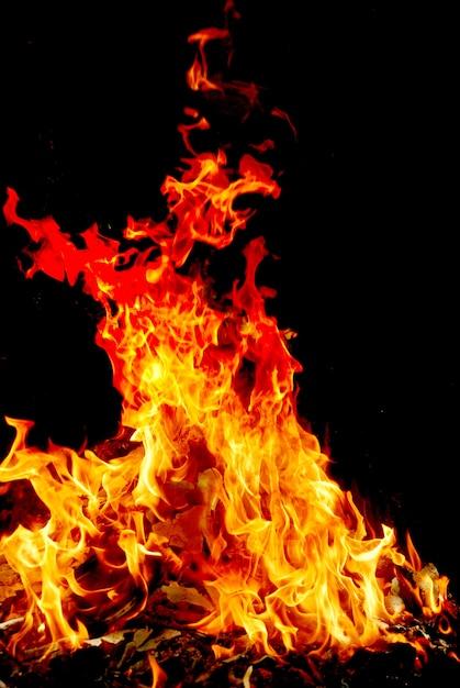 O fogo está ligado Foto Premium