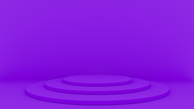 O fundo 3d abstrato rende. plataforma para exibição do produto. lugar do pódio interior. Foto Premium