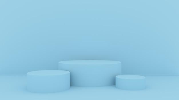 O fundo 3d abstrato rende. plataforma rosa para exposição do produto. lugar do pódio interior. Foto Premium