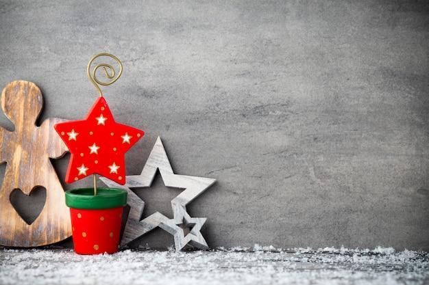 O fundo de metal cinza, decoração de natal. Foto Premium