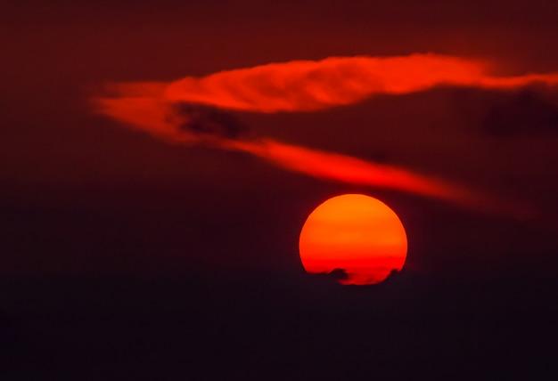 O grande sol da manhã Foto Premium