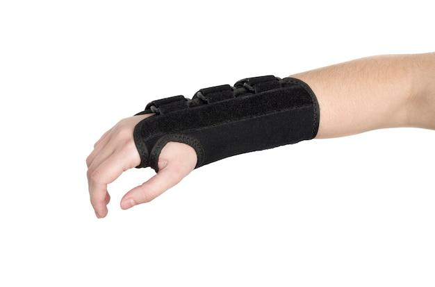 O paciente está usando uma pulseira preta. Foto Premium