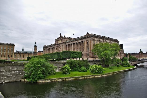 O palácio real em estocolmo, suécia Foto Premium