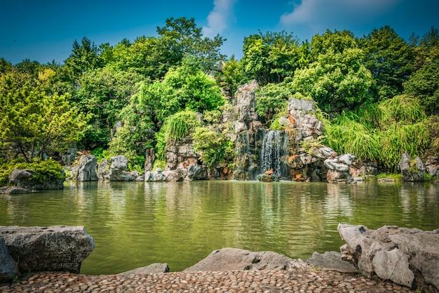 O parque da cidade com o lago Foto gratuita
