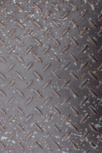 O piso irregular da parede de metal Foto Premium