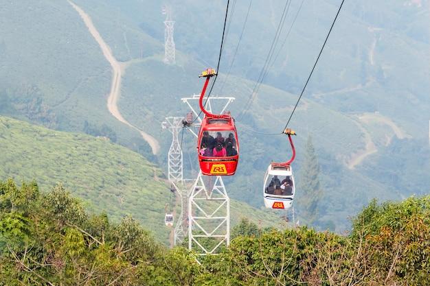 O teleférico de darjeeling Foto Premium