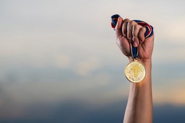 O vencedor e o conceito de sucesso Foto Premium