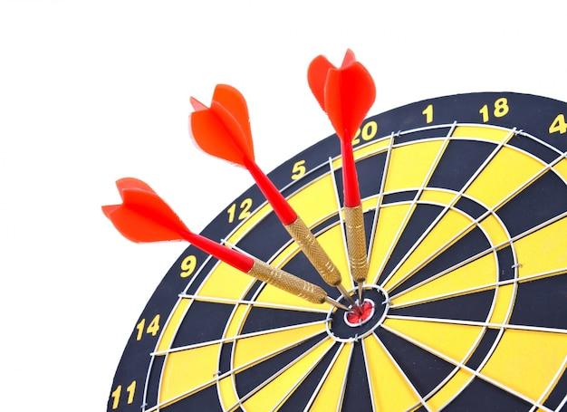 Objetivo do jogo de dardos s aspirações touro olho Foto gratuita