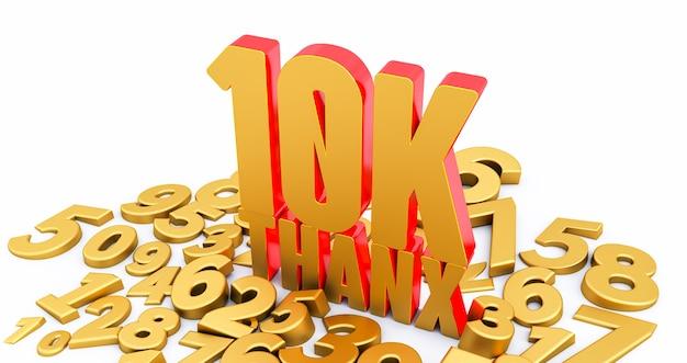 Obrigado, 10 mil seguidores. obrigado seguidores parabéns postagem Foto Premium