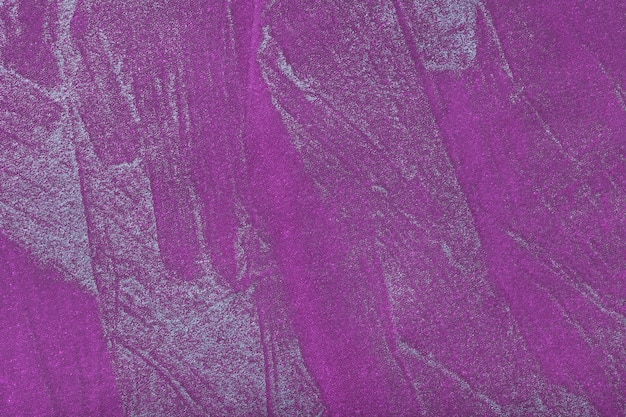 Obscuridade do fundo da arte abstrata - violeta com cor de prata. pintura multicolorida sobre tela. Foto Premium