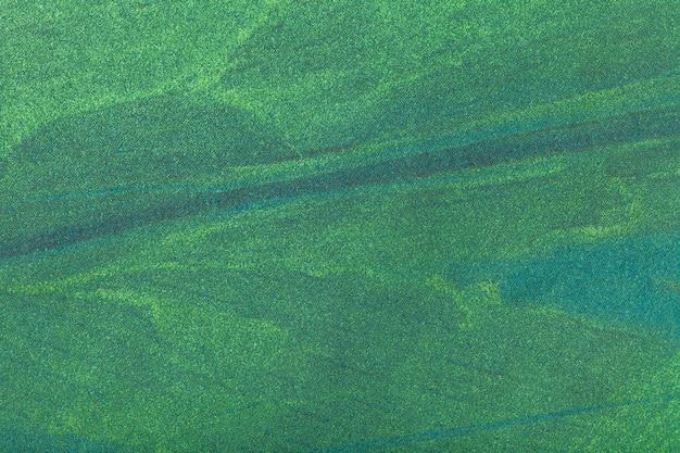 Obscuridade do fundo da arte abstrato - cor verde. pintura multicolorida sobre tela. Foto Premium
