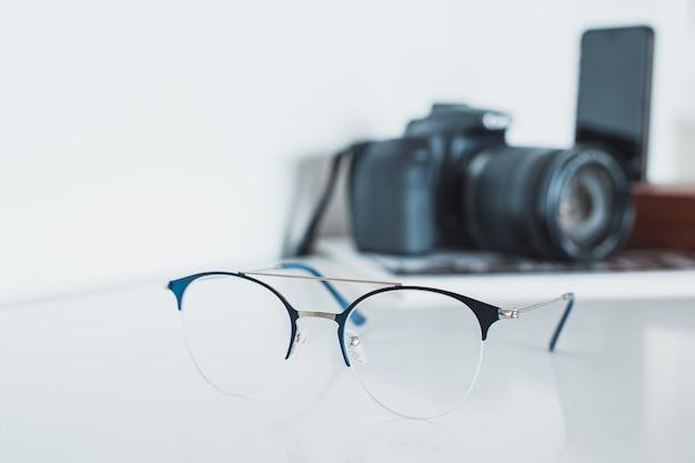 Óculos com câmera e telefone Foto Premium