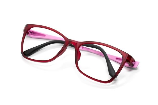 Óculos na moda modernos isolados no branco Foto Premium