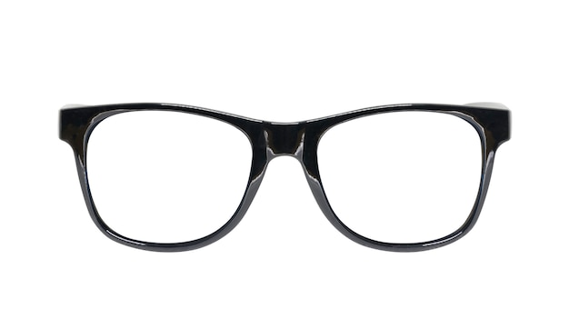 Óculos pretos isolados Foto Premium