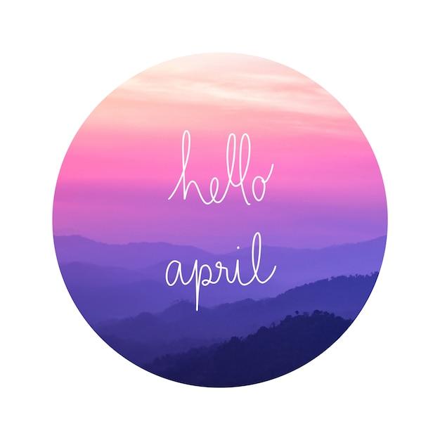 Olá abril na paisagem Foto Premium