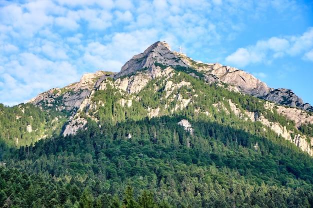 Omu peak montanhas na roménia Foto Premium