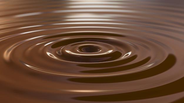 Ondinha do chocolate 4k. renderização em 3d. ilustração 3d. Foto Premium