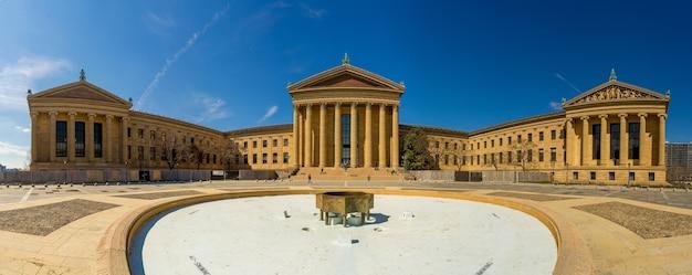 Opinião do panorama do museu de arte de philadelphfia no dia ensolarado, pensilvânia, eua. Foto Premium