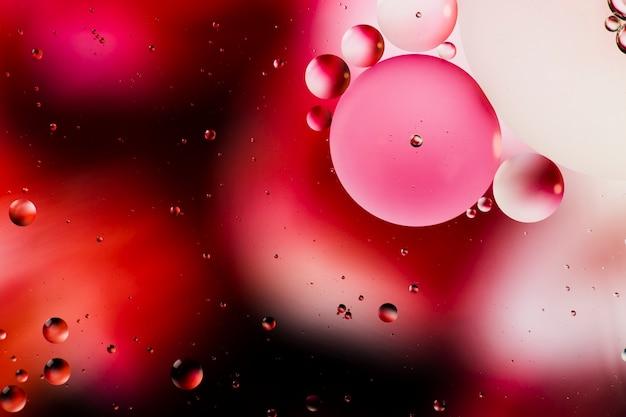 Orvalho avermelhado de um fundo abstrato manhã aquosa Foto gratuita