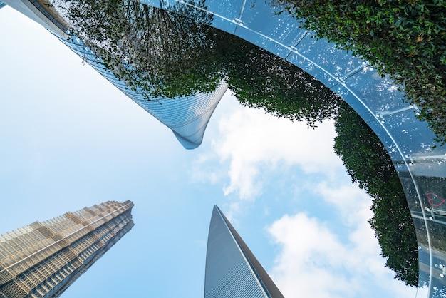 Os arranha-céus do centro financeiro, shanghai, china Foto Premium