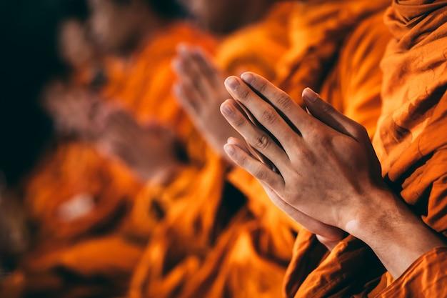 Os monges estão cantando Foto Premium