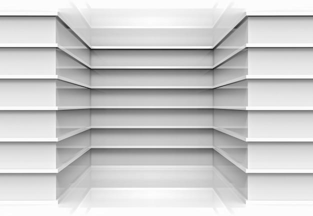 Os painéis cinzentos paralelos modernos projetam o fundo de canto da parede. Foto Premium