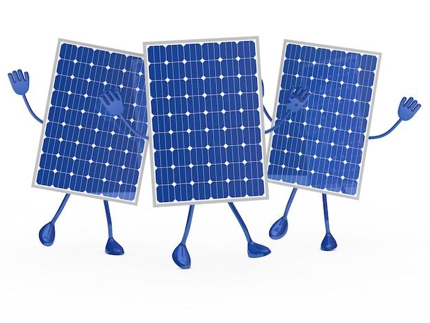 Os painéis solares salto Foto gratuita