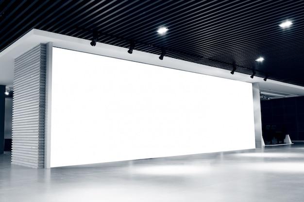Outdoor em branco no interior Foto Premium