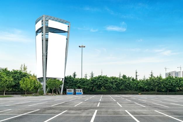 Outdoors ao ar livre no estacionamento Foto Premium