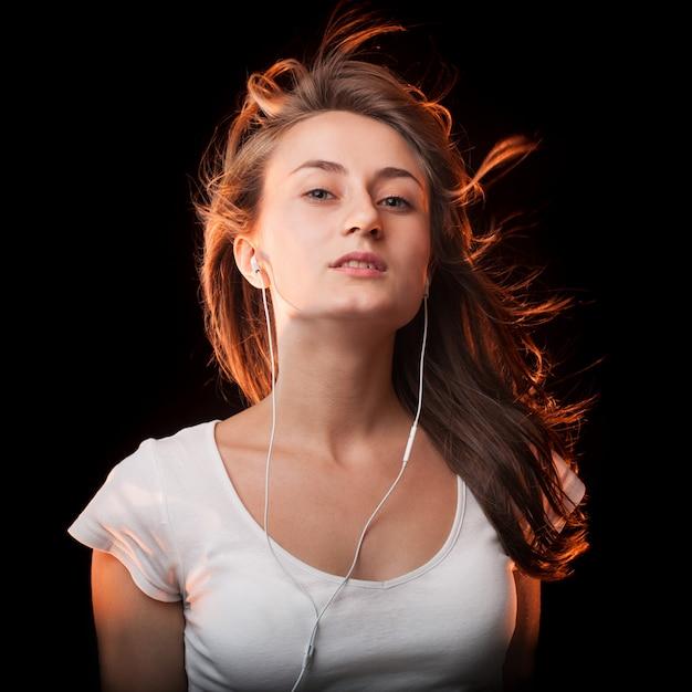 Ouvir a música Foto Premium