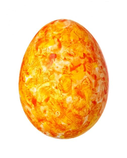Ovo de páscoa colorido isolado no branco Foto Premium