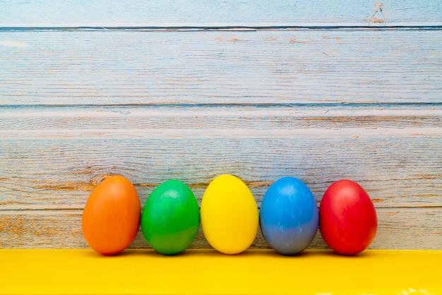 Ovo de páscoa, feliz páscoa domingo caçar decorações do feriado Foto Premium