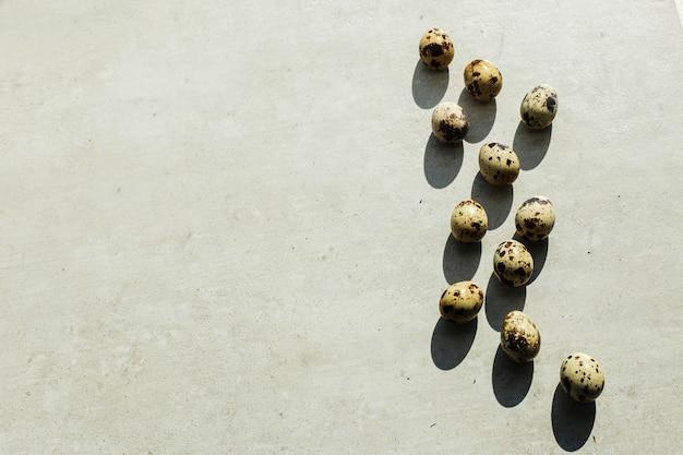 Ovos de codorna no chão Foto gratuita