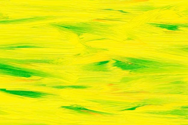 Padrão amarelo e verde na parede. modelo de tintas a óleo. cores brilhantes, desenho em aquarela, fundo pintado abstrato. Foto Premium