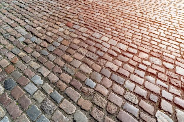 Padrão de calçada alemã antiga no centro da cidade Foto Premium