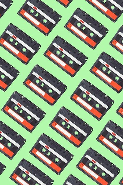 Padrão de fita cassete de áudio. Foto Premium