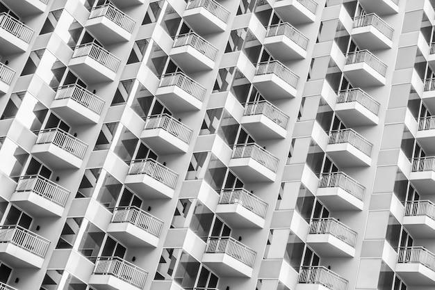 Padrão de janela do edifício Foto gratuita