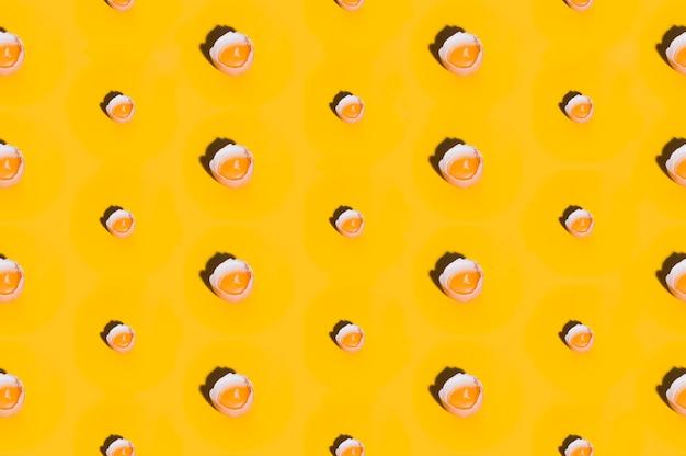 Padrão de padaria com ovos Foto gratuita