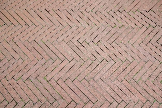 Padrão de passarela de tijolos em ziguezague Foto Premium