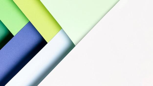 Padrão de vista superior feito de tons de cores frescas Foto gratuita