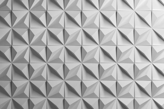 Padrão geométrico poliedro com pirâmides Foto Premium