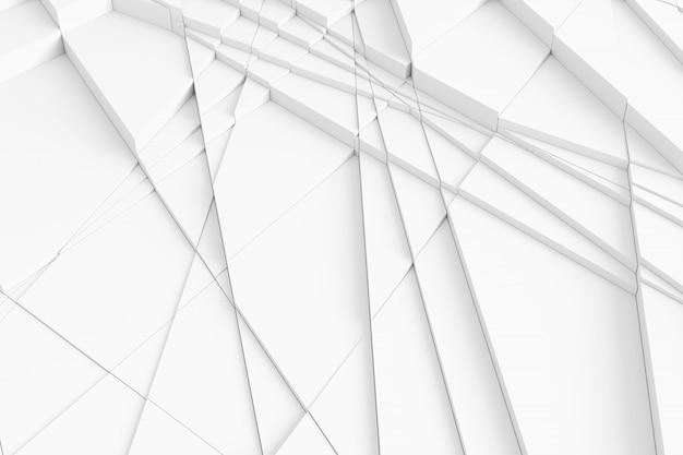 Padrão tridimensional de dissecado em muitos elementos triangulares individuais da superfície Foto Premium