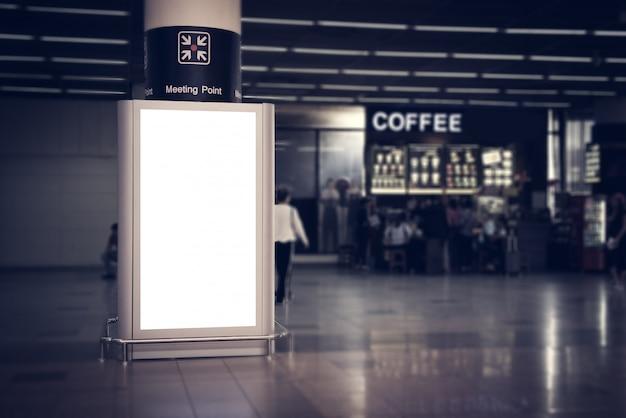 Painéis publicitários de interior. Foto Premium