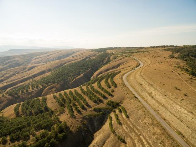 Paisagem aérea na criméia Foto gratuita