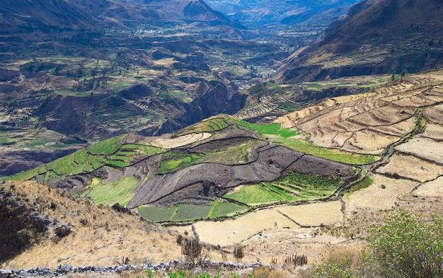 Paisagem das montanhas peruanas Foto Premium