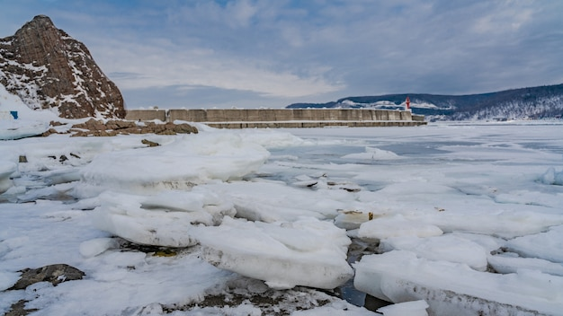 Paisagem de inverno derretida Foto Premium