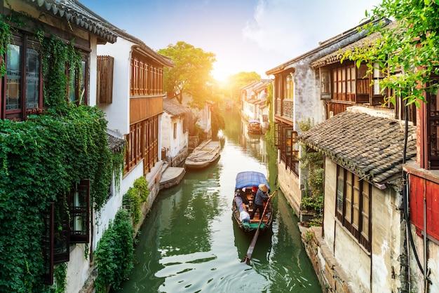 Paisagem de jiangsu zhouzhuang Foto Premium