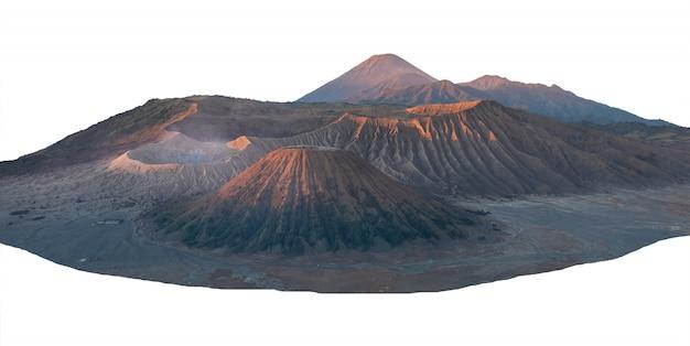 Paisagem, de, pico, bromo, montanha, isolado Foto Premium